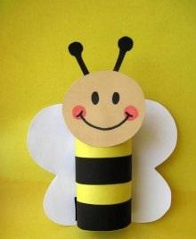 Как сделать пчёлку из бумаги