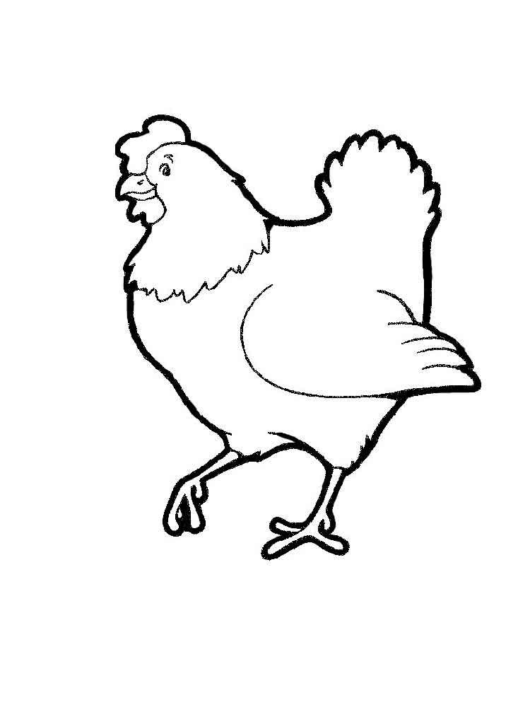 Трафарет курица