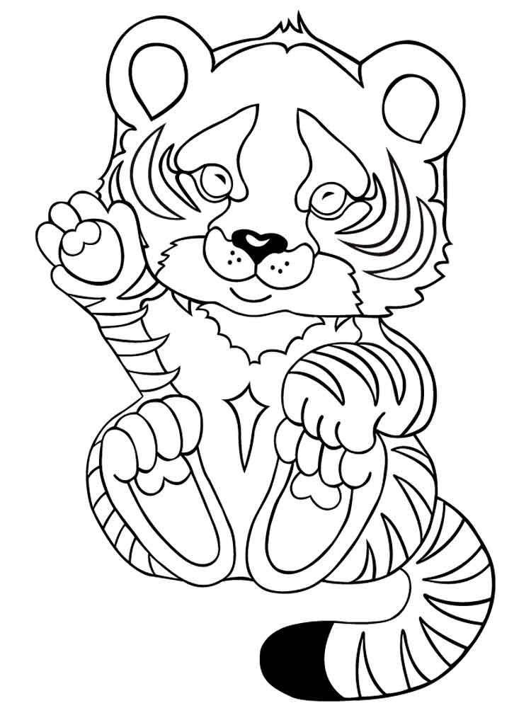 Раскраски для детей тигренок 177