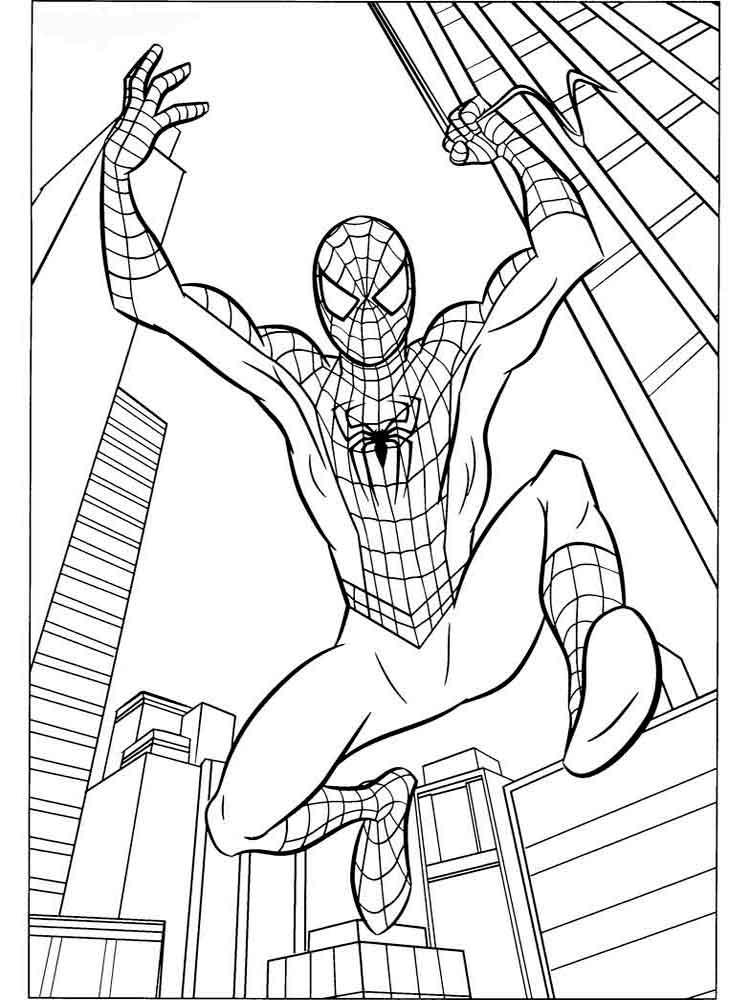 человек паук скачать раскраски