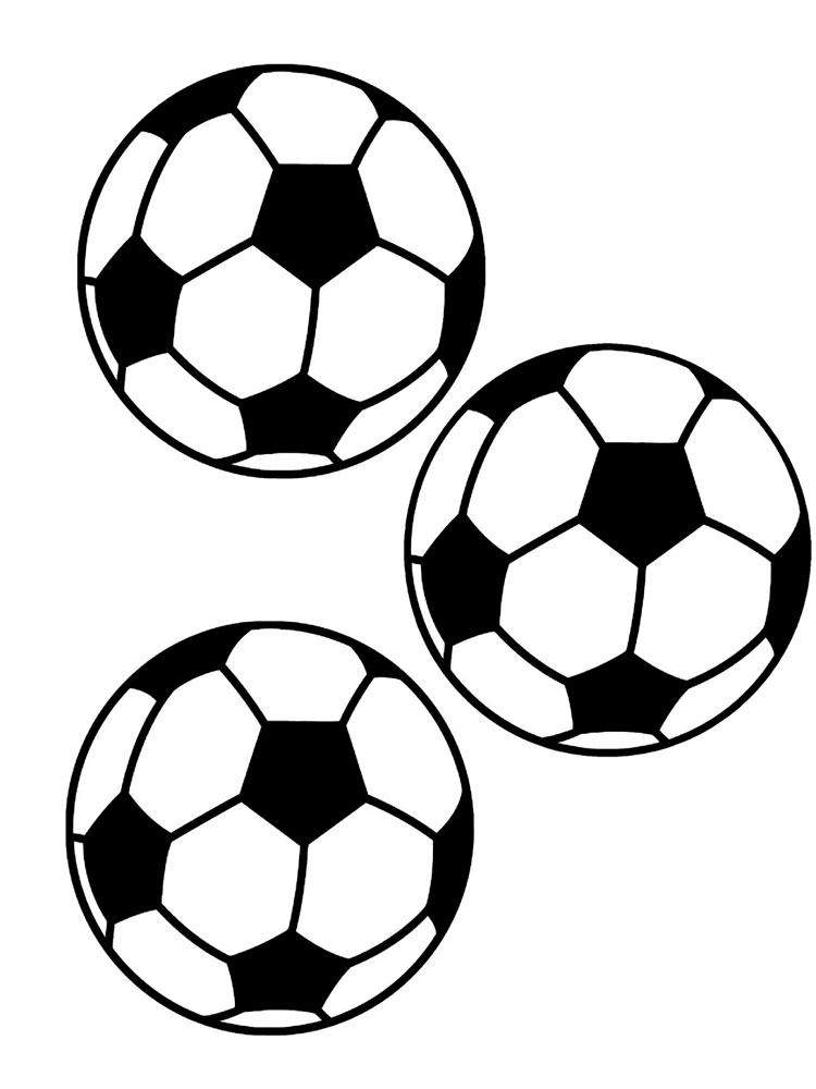 Футбольные мячи распечатать раскраску