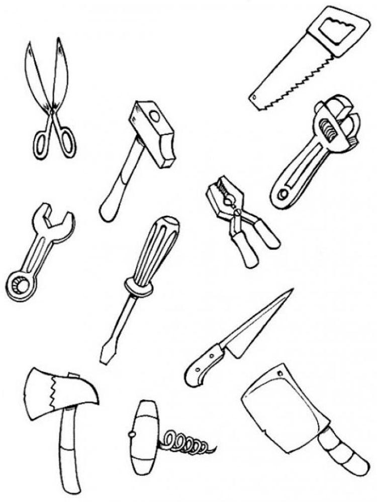 Поделки с детьми рабочие инструменты