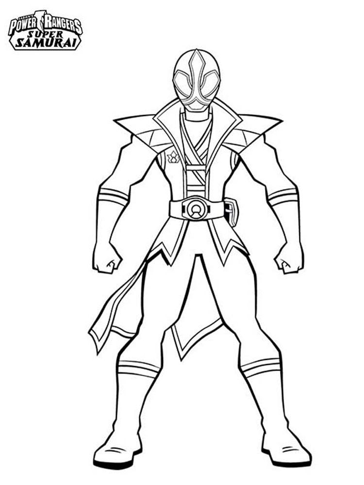 Как рисовать рейнджеров самурая