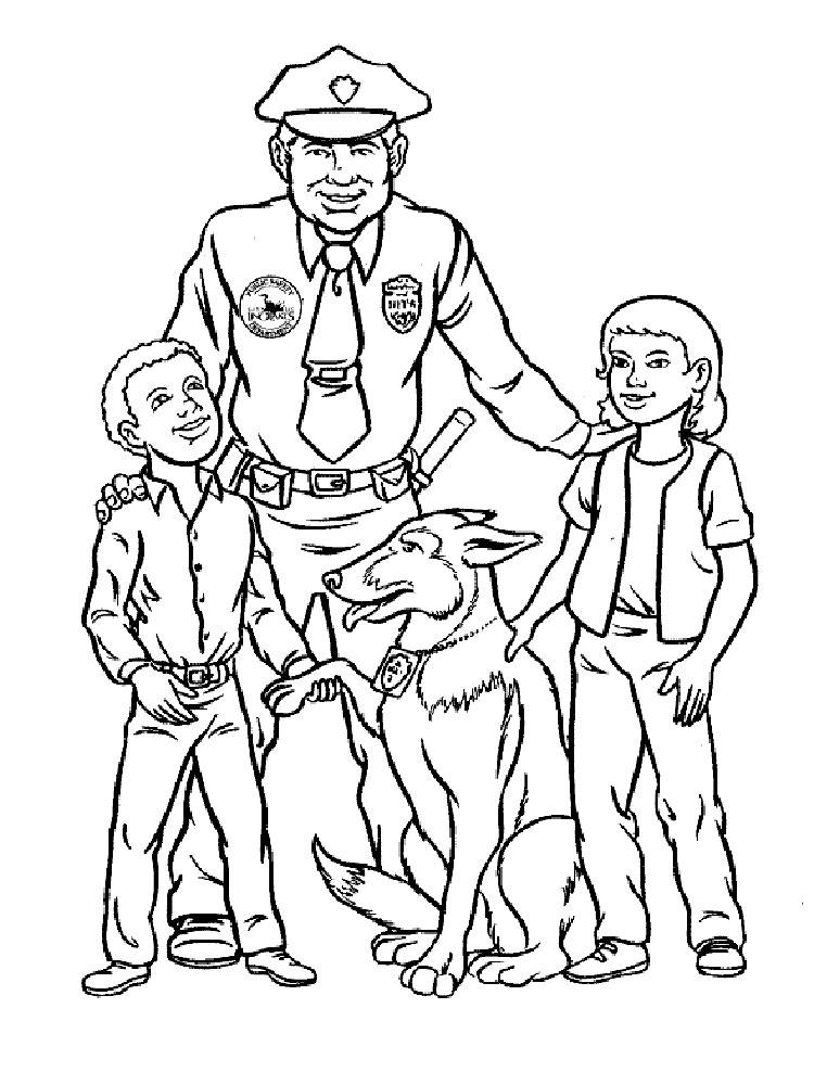 Раскраски для детей милиция