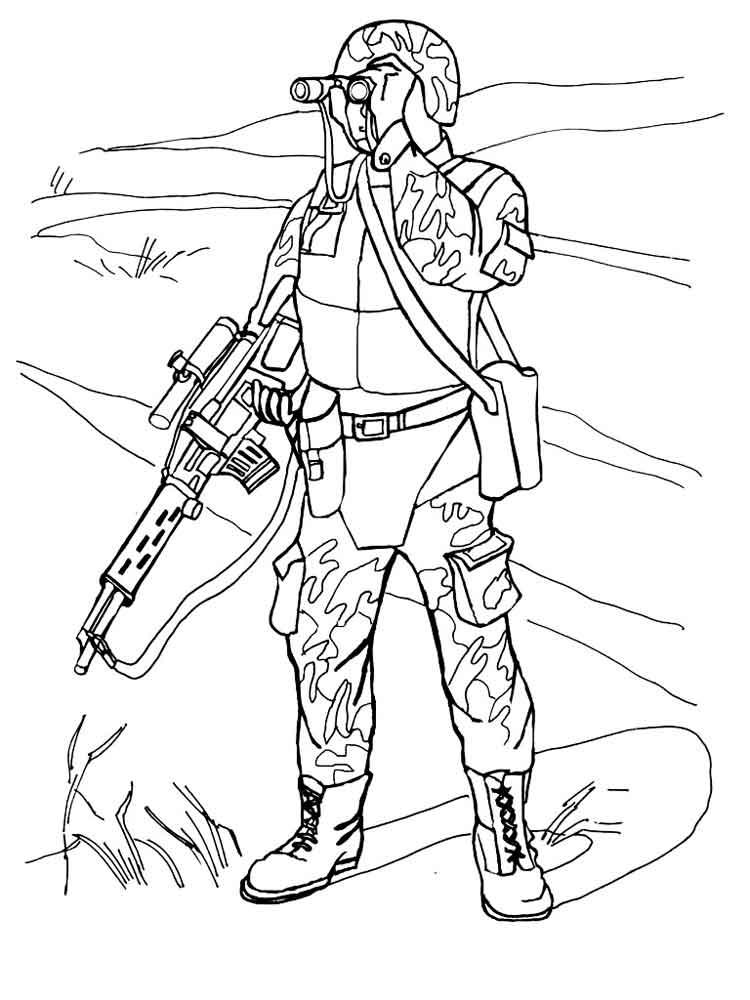 Распечатать раскраски с солдаты