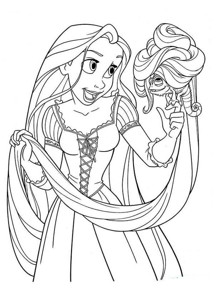 Rapunzel zum ausdrucken