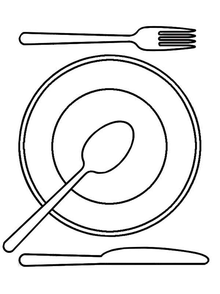 Раскраска посуды 37