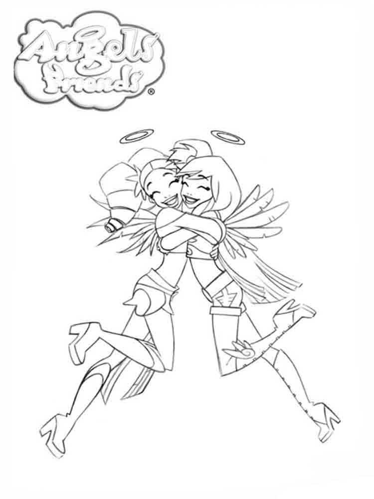 Раскраска друзья ангелов крылья призмы 112