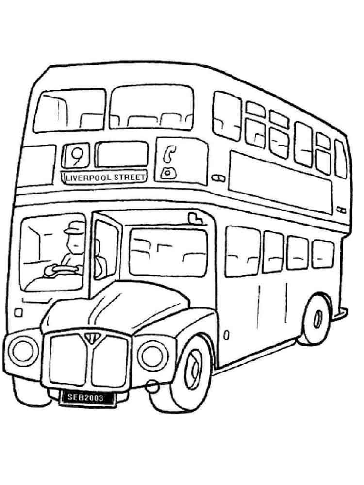 картинка автобуса для раскрашивания начинающие любители питомцев