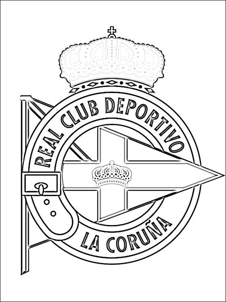 Раскраска эмблемы футбольных клубов мира