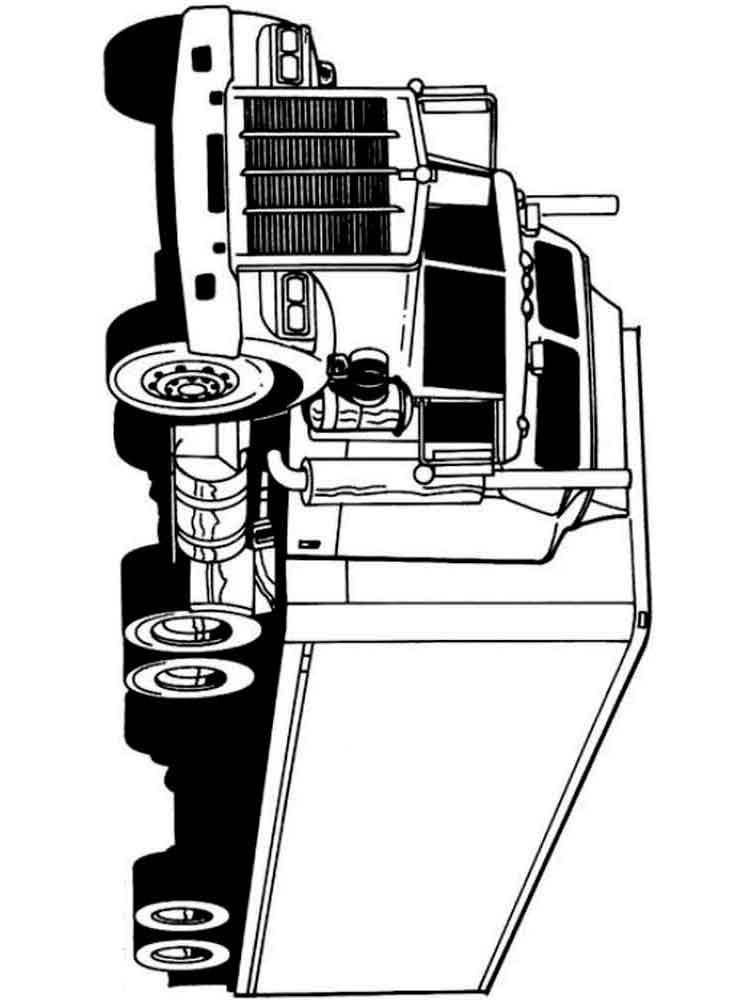 Раскраска Грузовик. Скачать и распечатать раскраски грузовик.