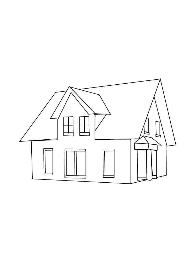 Картинки домики для срисовки