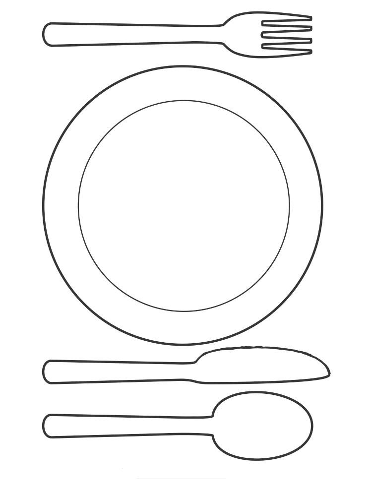 распечатать картинки посуды касается