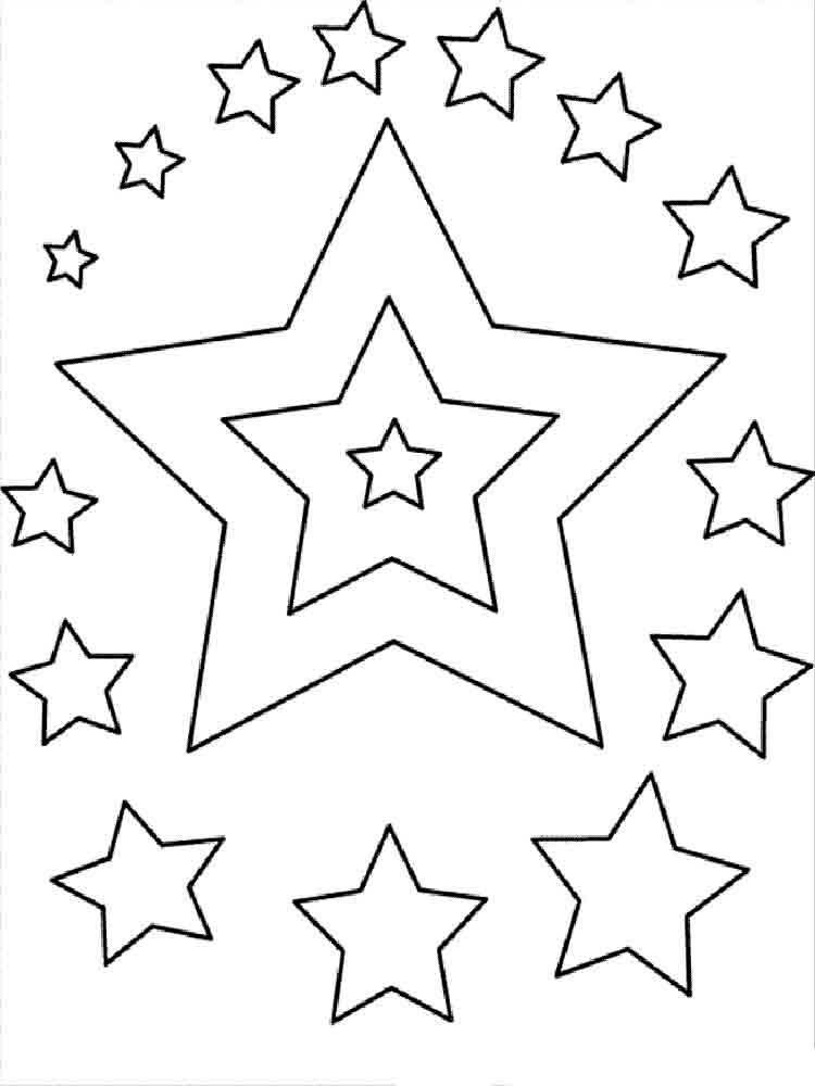 Картинка раскраски звездочки