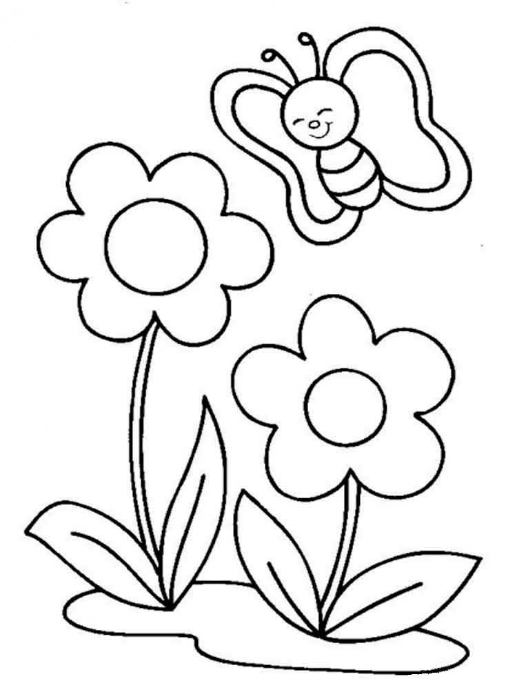 Картинки трафареты для детей цветы