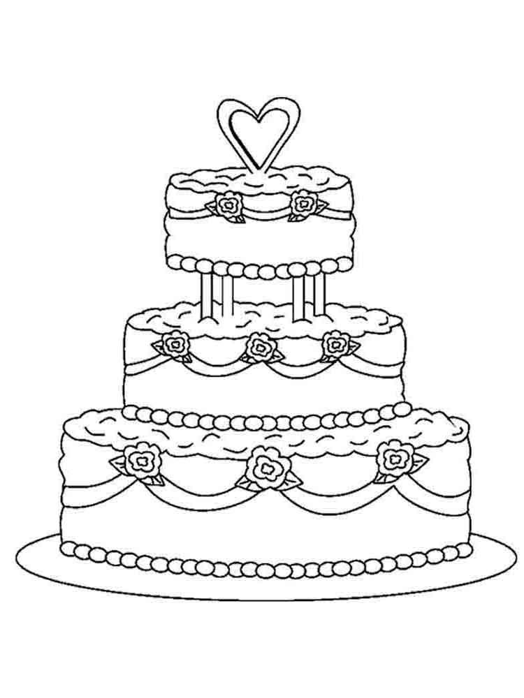 раскраски торт скачать и распечатать раскраски торт
