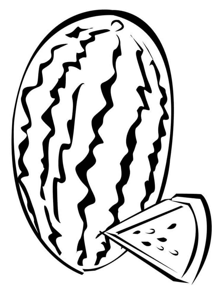 картинки арбуза раскраски распечатать схемы вязания
