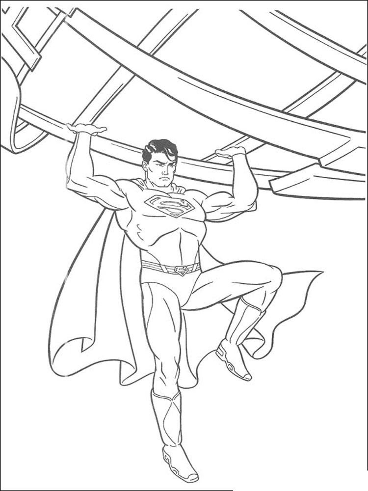 Супермен картинки раскраски