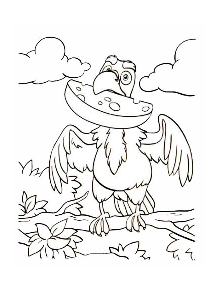 колледж картинка сказки лиса и ворона черно белая простимулировать можно