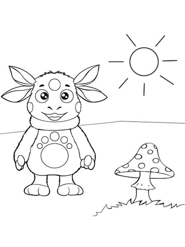 Раскраски для детей картинки лунтика
