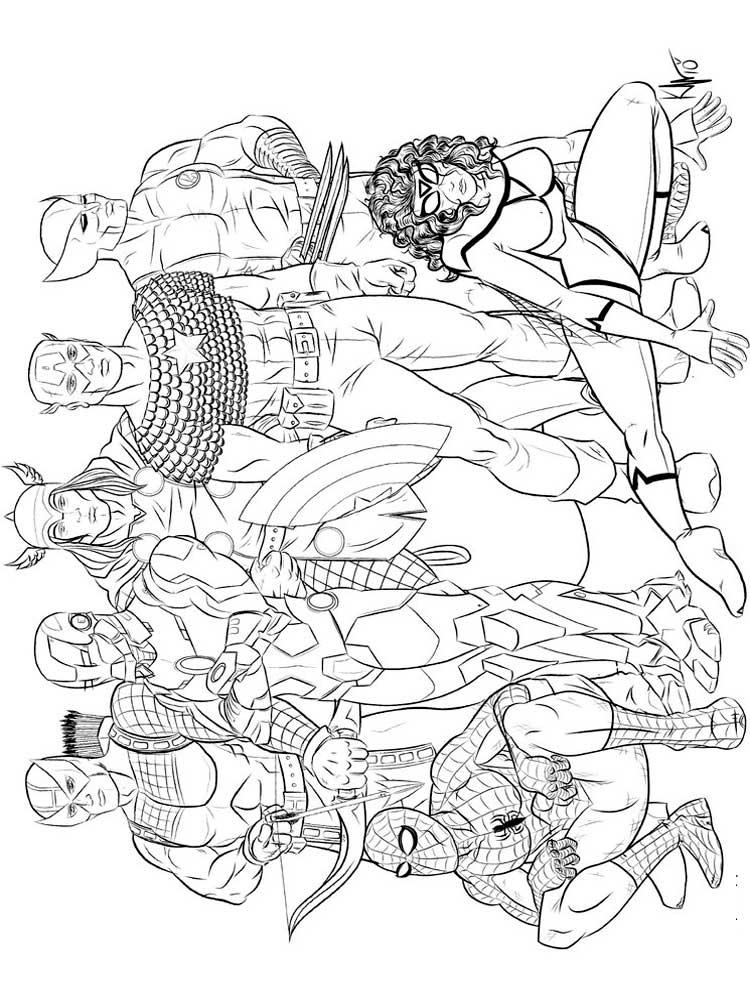 Картинки для раскрашивания героев мстителей