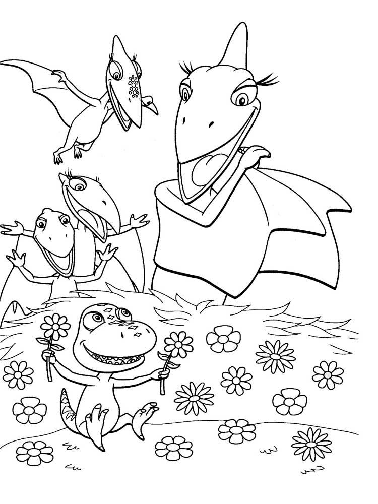Поезд динозавров картинки для раскраски