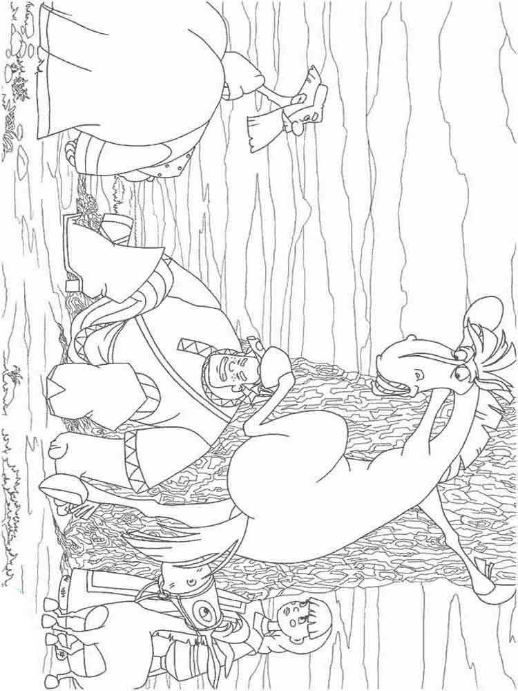 раскраска три богатыря ход конем распечатать