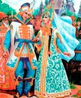 русская народная Сказка О Василисе, золотой косе, непокрытой красе, и об Иване Горохе для детей